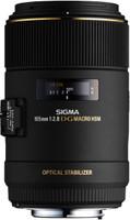 Sigma 105 mm F2.8 DG EX HSM OS Macro 62 mm Objetivo (Montura Canon EF) negro