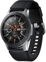 Samsung Galaxy Watch 46 mm argento am Cinghia in silicone nero [Wi-Fi + 4G]