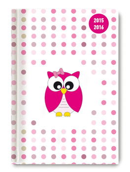 Collegetimer A5 day by day Pink Owl 2015/2016 - 1 Tag 1 Seite