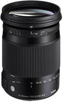 Sigma C 18-300 mm F3.5-6.3 DC HSM OS Macro 72 mm Objectif (adapté à Pentax K) noir