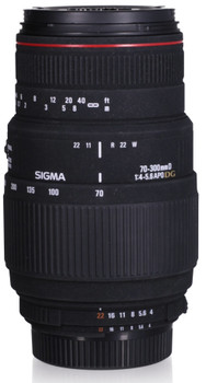 Sigma 70-300 mm F4.0-5.6 APO DG Macro 58 mm filter (geschikt voor Nikon F) zwart