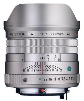 Pentax smc FA 31 mm F1.8 58 mm Objectif (adapté à Pentax K) argent [Édition limitée]