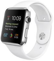 Apple Watch 42mm bracelet sport noir gris/blanc [Wi-Fi]