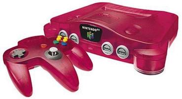 Nintendo 64 rojo transparente
