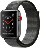 Apple Watch Series 3 42mm Caja de aluminio en gris espacial con correa Loop deportiva oliva oscuro [Wifi + Cellular]