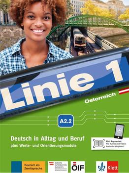 Linie 1 Österreich A2.2. Deutsch in Alltag und Beruf plus Werte- und Orientierungsmodulen. Kurs- und Übungsbuch mit DVD-ROM - Ralf Sonntag  [Taschenbuch]