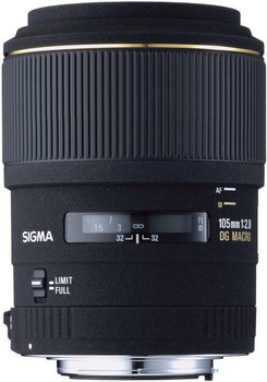 Sigma 105 mm F2.8 DG EX Macro 58mm Objectif (adapté à Canon EF) noir