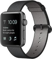 Apple Watch Series 2 42mm Caja de aluminio en gris espacial con correa de nailon trenzado negra [Wifi]