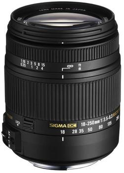 Sigma 18-250 mm F3.5-6.3 DC HSM Macro 62 mm filter (geschikt voor Sony A-mount) zwart