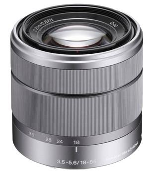 Sony E 18-55 mm F3.5-5.6 OSS 49 mm Objectif (adapté à Sony E-mount) argent