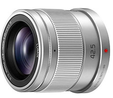 Panasonic Lumix G 42,5 mm F1.7 ASPH. POWER O.I.S. 37 mm Objectif (adapté à Micro Four Thirds) argent