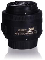 Nikon AF-S DX NIKKOR 35 mm F1.8 G 52 mm Objetivo (Montura Nikon F) negro
