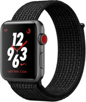 Apple Watch Nike+ Series 3 42mm cassa in alluminio grigio siderale con cinturino Nike Sport Loop platino/nero [Wifi + Cellular]