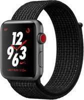 Apple Watch Nike+ Series 3 42 mm aluminium spacegrijs met geweven Nike sportbandje zwart [wifi + cellular]