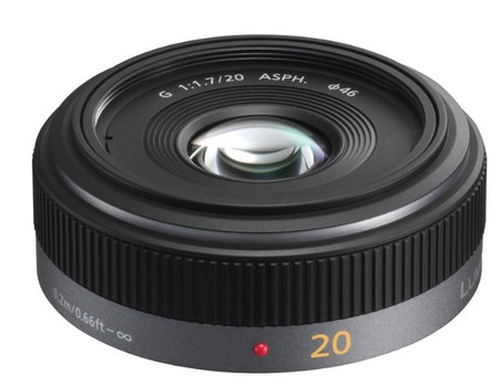 Panasonic Lumix G 20 mm F1.7 ASPH. 46 mm Objectif (adapté à Micro Four Thirds) noir
