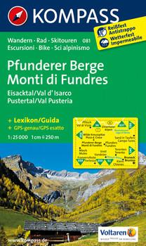 Pfunderer Berge/Monti di Fundres - Eisacktal/Val d'Isarco - Pustertal/Val Pusteria: Wanderkarte mit Kurzführer, Radrouten und Skitouren. GPS-genau. 1:25000, dt. /ital.