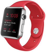 Apple Watch 42mm plata con correa deportiva roja [Wifi, (PRODUCT) RED Special Edition]