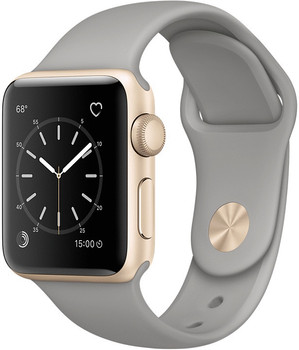 Apple Watch Series 2 38 mm goud aluminium met sportarmband betongrijsgrijs [wifi]