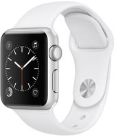 Apple Watch Series 1 38 mm - Boîtier en aluminium argent et bracelet sport blanc [Wi-Fi]