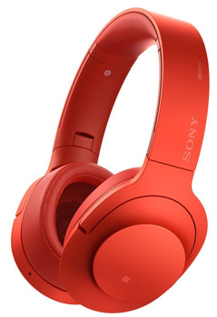 Sony h.ear on Wireless NC MDR-100ABN rood