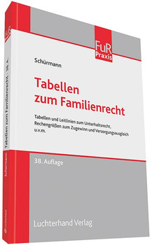Tabellen zum Familienrecht [Taschenbuch]