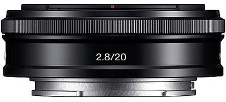 Sony E 20 mm F2.8 49 mm filter (geschikt voor Sony E-mount) zwart