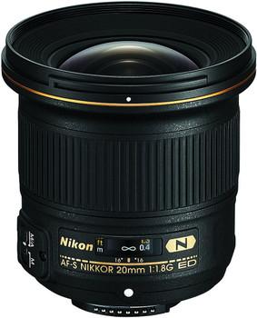 Nikon AF-S NIKKOR 20 mm F1.8 ED G 77 mm filter (geschikt voor Nikon F) zwart