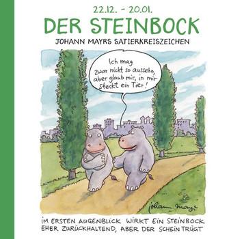 Der Steinbock. Witziges Cartoon Sternzeichen-Geschenkbuch im Format 11,5 x 11,5 cm [Gebundene Ausgabe]