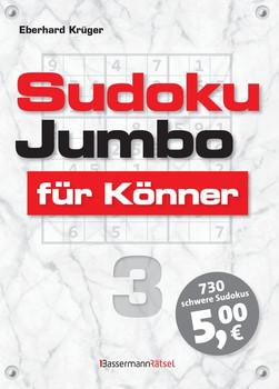 Sudokujumbo für Könner 3. mittlerer bis hoher Schwierigkeitsgrad - Eberhard Krüger  [Taschenbuch]