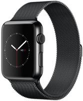Apple Watch 42 mm space noir bracelet Milanais space noir [Wi-Fi]