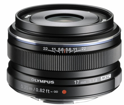 Olympus 17 mm F1.8 46 mm Objectif (adapté à Micro Four Thirds) noir