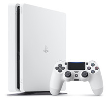 Sony Playstation 4 slim 500 Go [incl. une manette sans fil] blanc