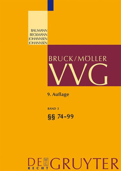 VVG / §§ 74-99 VVG [Gebundene Ausgabe]