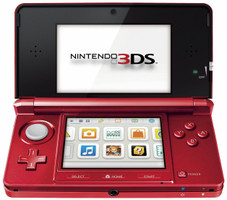 Nintendo 3DS metallic rood