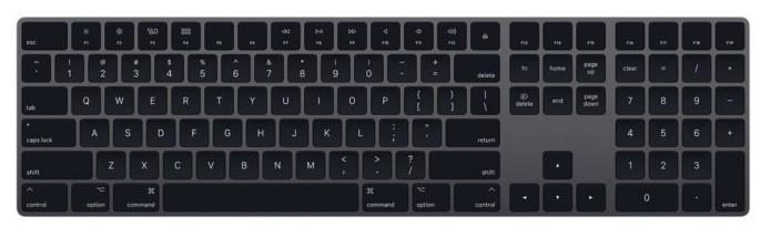 Apple magic Keyboard mit Ziffernblatt [englisches Tastaturlayout, QWERTY] space grau