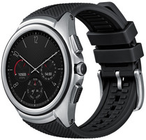 LG Watch Urbane 35mm argento con bracciale nero [Wifi + 3G, 2nd Edition]