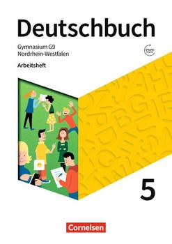 Deutschbuch Gymnasium - Nordrhein-Westfalen - Neue Ausgabe / 5. Schuljahr - Arbeitsheft mit Lösungen - Klaus Tetling  [Taschenbuch]