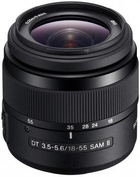 Sony DT 18-55 mm F3.5-5.6 SAM II 55 mm filter (geschikt voor Sony A-mount) zwart