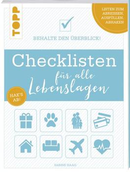 Checklisten für alle Lebenslagen. Behalte den Überblick! Alle Checklisten zum Heraustrennen und als Download - Sabine Haag  [Taschenbuch]