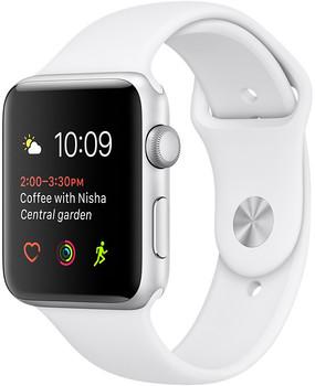 Apple Watch Series 1 42mm cassa in alluminio argento con cinturino Sport bianca [Wifi]