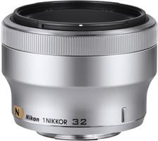 Nikon 1 NIKKOR 32 mm F1.2 52 mm filter (geschikt voor Nikon 1) zilver