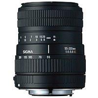 Sigma 55-200 mm F4.0-5.6 DC 55 mm Objetivo (Montura Canon EF) negro