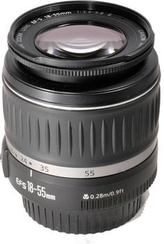 Canon EF-S 18-55 mm F3.5-5.6 II 58 mm Objectif (adapté à Canon EF-S) noir