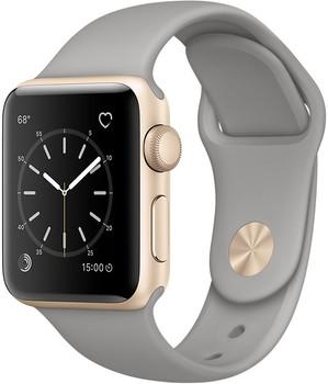 Apple Watch Series 1 38 mm goud aluminium met sportarmband betongrijs [wifi]