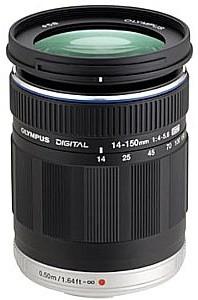 Olympus 14-150 mm F4.0-5.6 ED 58 mm Objectif (adapté à Micro Four Thirds) noir