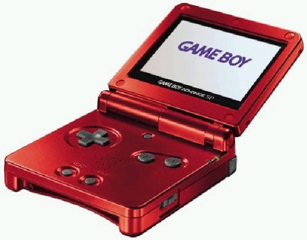 Game Boy Advance SP rosso