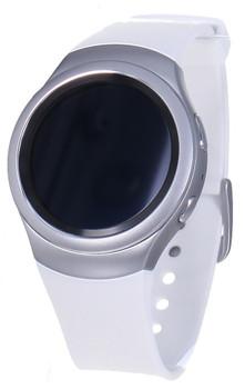 Samsung Gear S2 30,2mm argento con cinturino in gomma bianco perla [Wifi]
