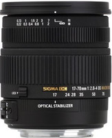 Sigma 17-70 mm F2.8-4.0 DC HSM OS Macro 72 mm Objetivo (Montura Nikon F) negro