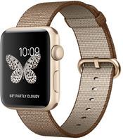 Apple Watch Series 2 42mm Caja de aluminio en oro con correa de nailon trenzado café caramelo [Wifi]