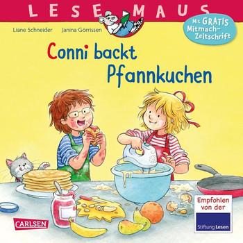 LESEMAUS 123: Conni backt Pfannkuchen - Liane Schneider  [Taschenbuch]